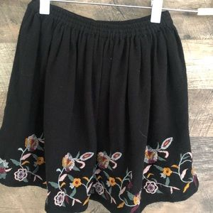 7/8 Zara Girls Soft Collection Embroidered Skirt